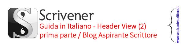 Scrivener guida italiano: Header View - prima parte (2)