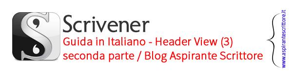 Scrivener guida italiano: header view - seconda parte (3)