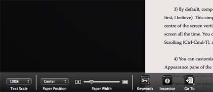 Scrivener guida italiano: menu composition mode