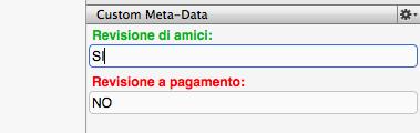 Scrivener guida italiano: inspector – seconda parte (7) - Custom Meta Data