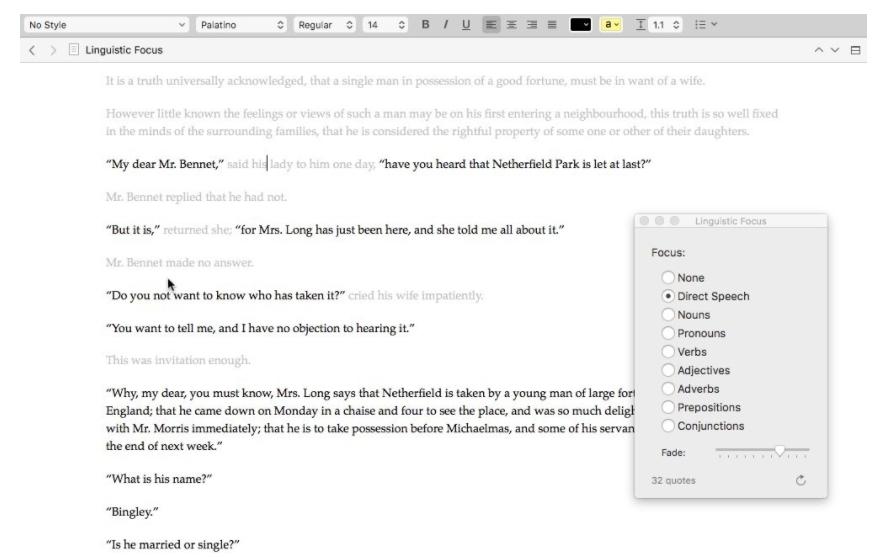 Scrivener 3 - Linguistic Focus nei dialoghi