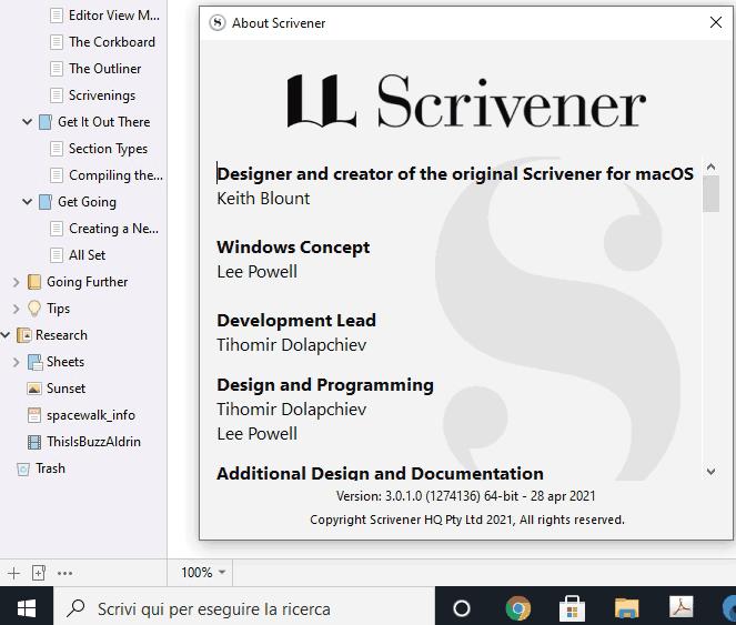 Scrivener 3 per Windows